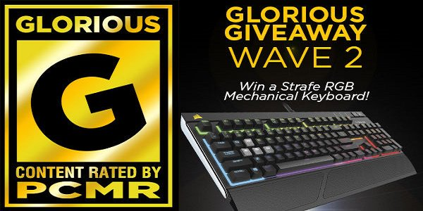 corsair on twitter wave two of our glorious pcmr giveaway has