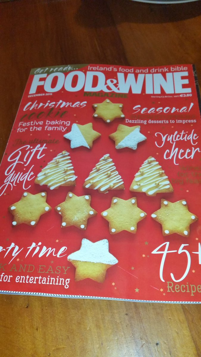 Delighted to have my recipe feature as cover of the Christmas Edition of @FoodAndWineMag as well as a 7 page spread! https://t.co/z8SSh9TmaD