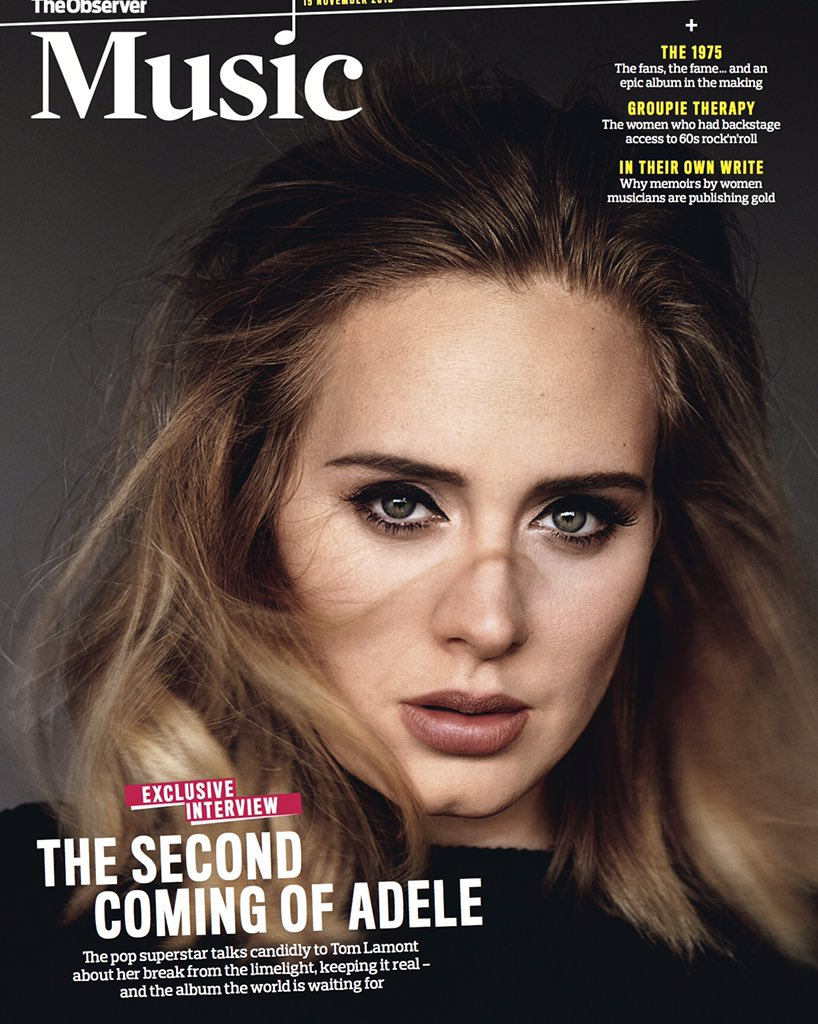 Adele On Twitter Im So Excited This Magazine Has Come Back And Ive Guest Edited The First One New Observer Music Xx