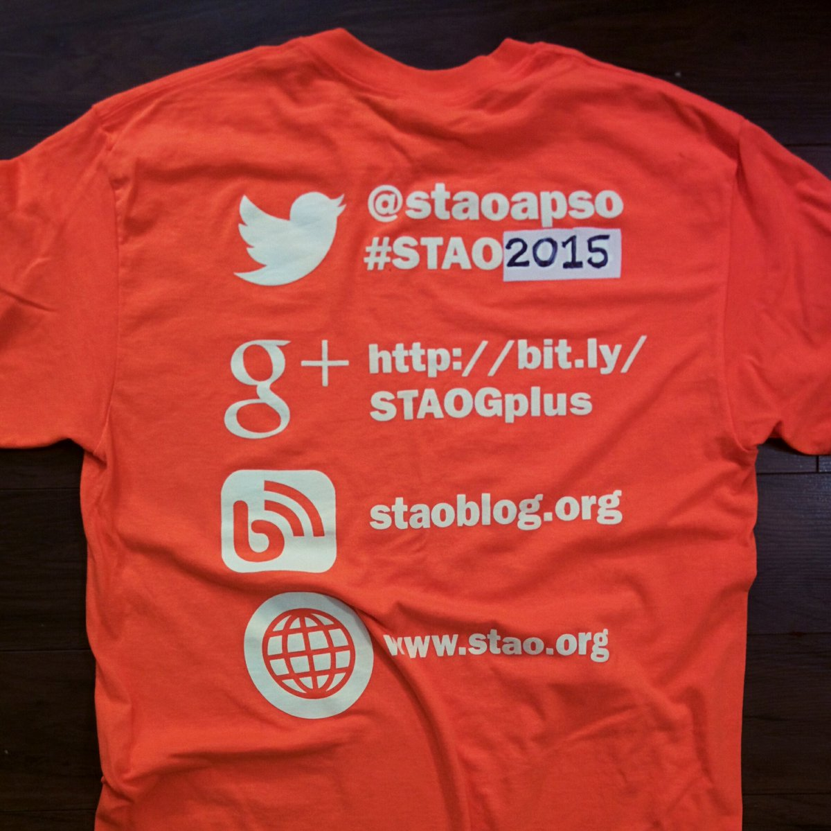 Ready for #stao2015 @staoapso - problem solved @staopres @MahfuzaLRahman @HTheijsmeijer https://t.co/6plqY9cvU8