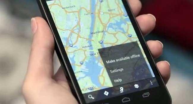 Le mappe di Google Maps si possono usare in modalita' off-line.