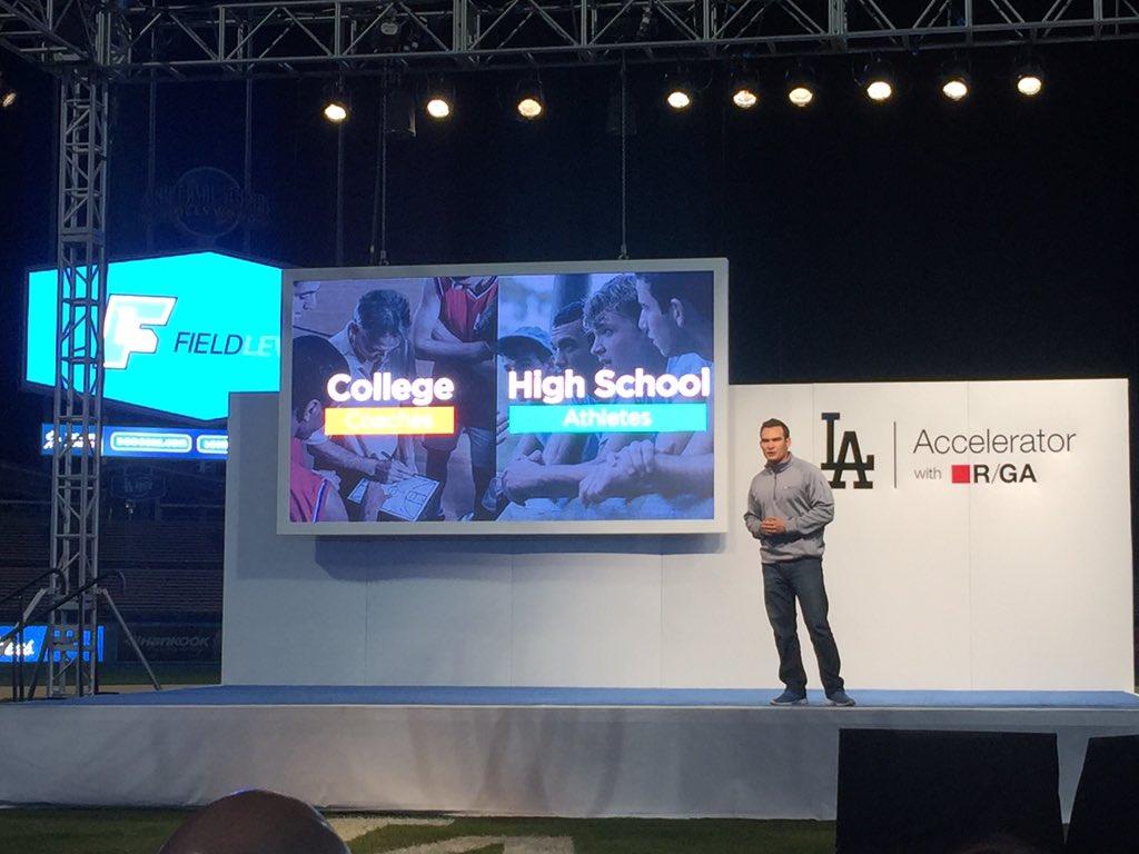 Digital LA - Dodgers Accelerator team of 10 startups pitches