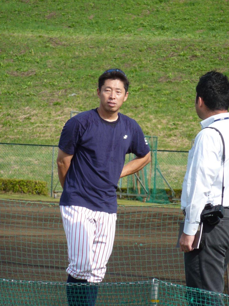 さっき覗きに行った戸田の写真。 田中浩康。 あっ、サインくれたよ!