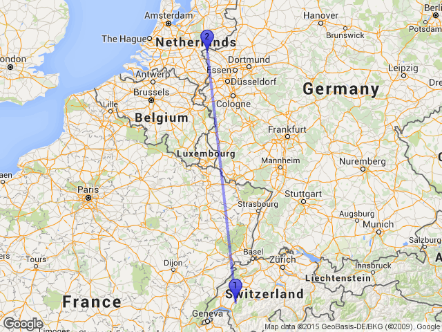 Random Distance on Twitter The distance between Vuadens – Germany Map Distances
