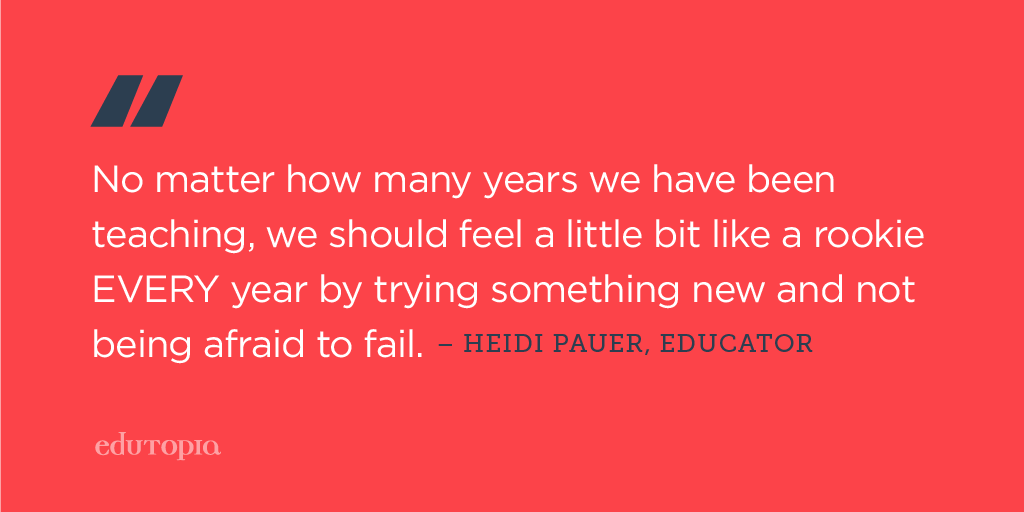 Edutopia On Twitter Dont Be Afraid To Try Something New Quote