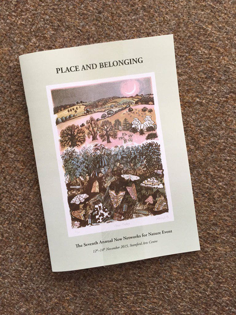Just arrived - booklet for those attending our Place and Belonging conference. Snippets from speakers and artists https://t.co/4eSogEQn8D