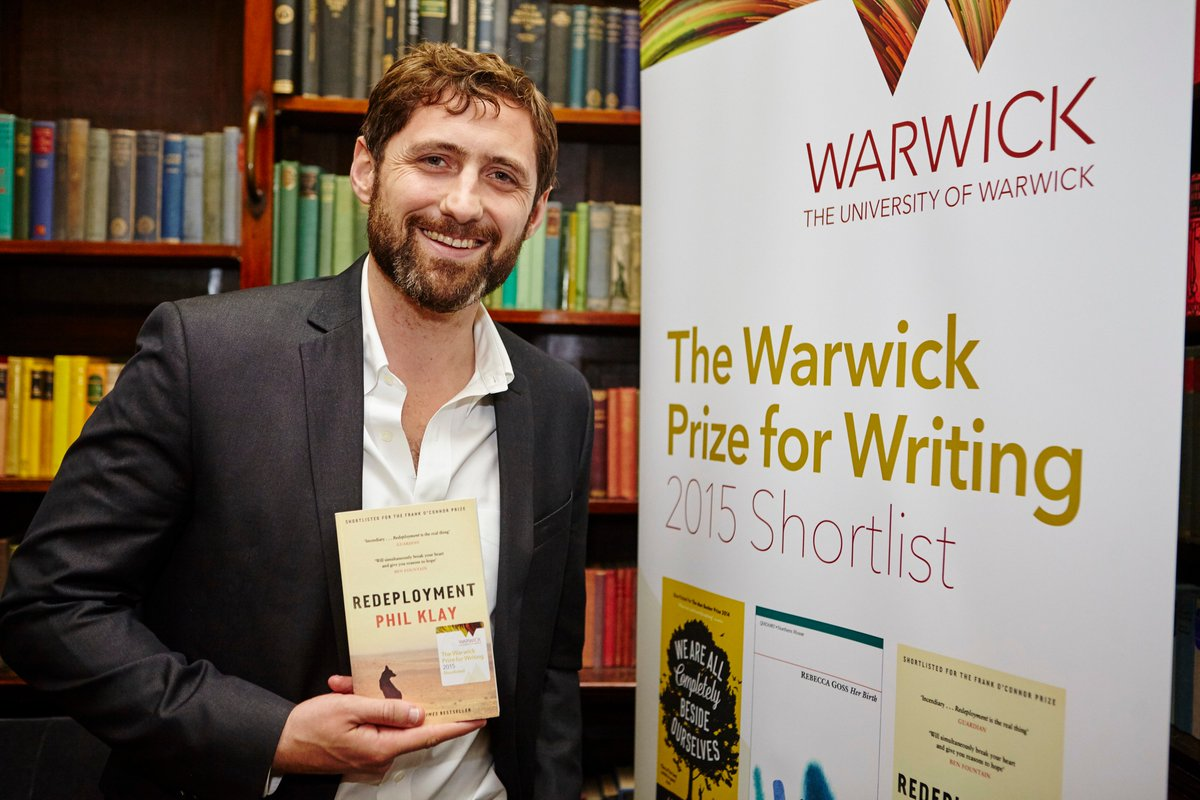 Further congrats to the talented @PhilKlay #WarwickPrize 2015 winner.Have an enjoyable flight home! @canongatebooks https://t.co/QuuIeC7cFB