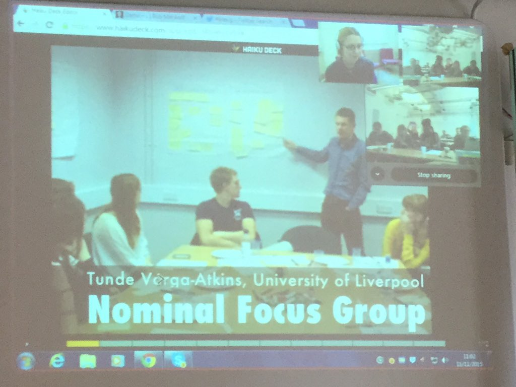 Great to have @tundeva at #ELESIG talk about nominal focus group technique, see https://t.co/nYsEbayUD4 https://t.co/C393B1m5t7