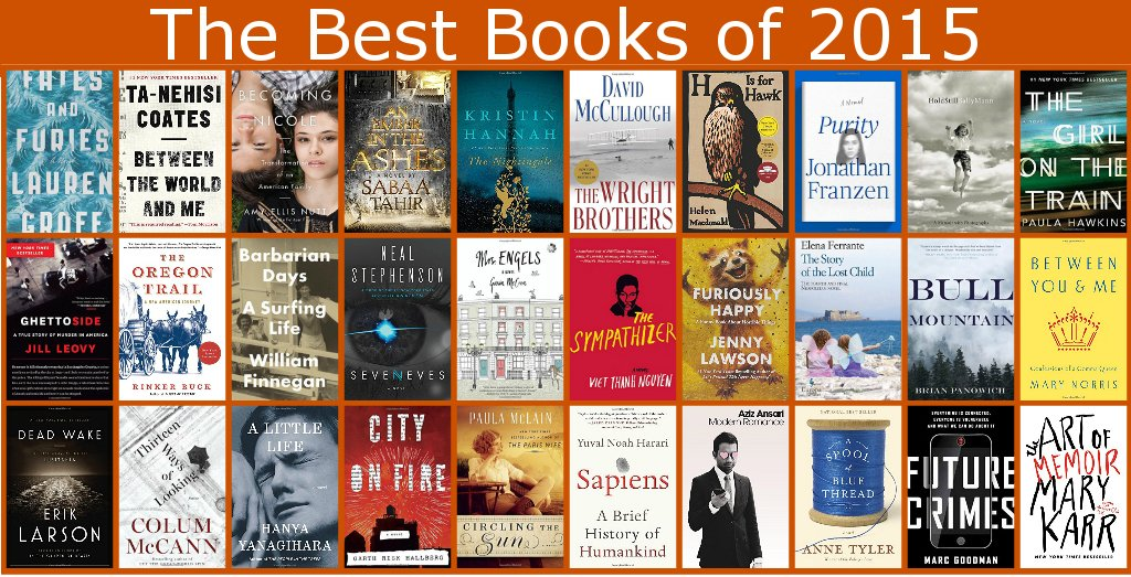 The Amazon Books editors have selected the best books of 2015: https://t.co/bpoR8Pj3nT #BestBooks2015 https://t.co/Yg2Yhm7tsB