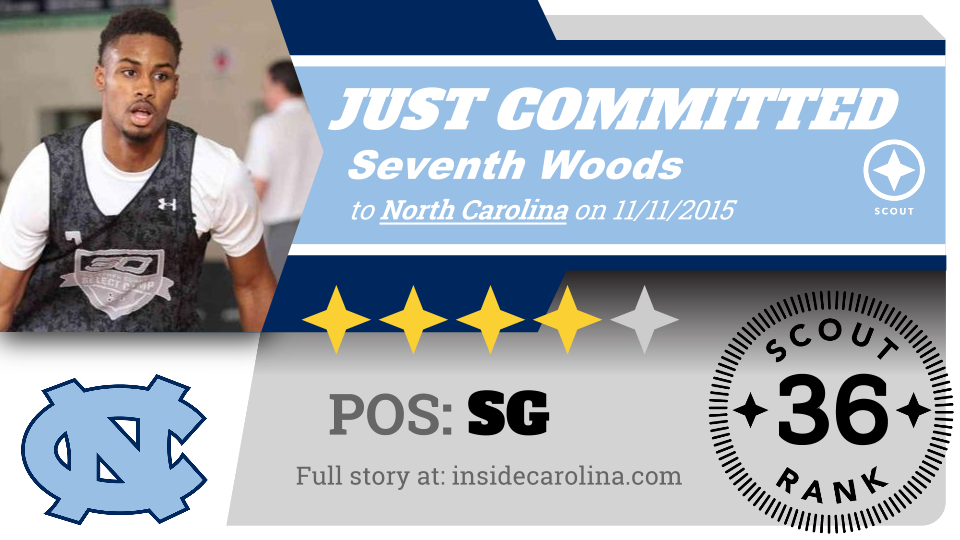 Four-star guard Seventh Woods announced a verbal commitment to North Carolina. UNC's third top 100 commit. https://t.co/bKnlkrxn4o