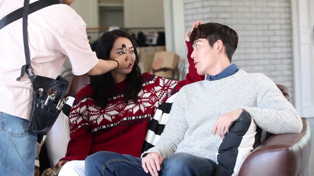Shin Min-a and boyfriend Kim Woo-bin during their photo shoot