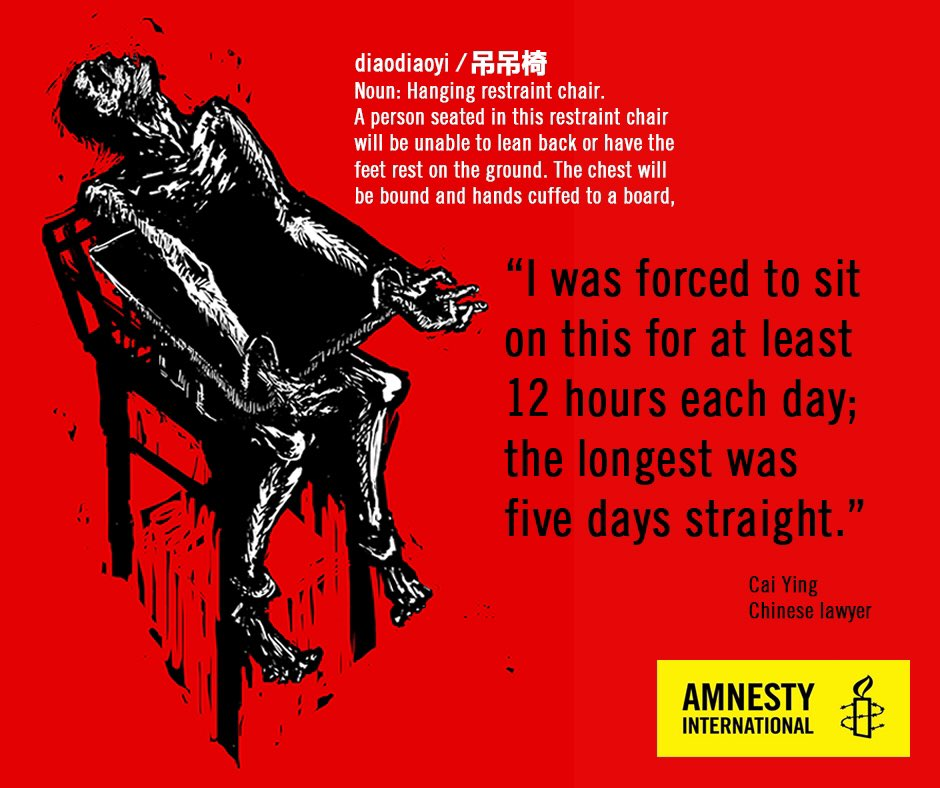 #NoEndinSight - #Amnesty new report on torture & forced confessions in China https://t.co/SciQSZllmR #StopTorture https://t.co/hOKnS3nj8I