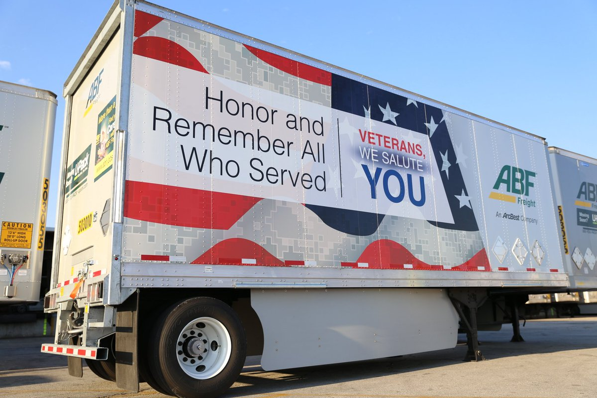 "ABF Freight on Twitter: ""ICYMI: We're excited about our ABF Freight trailer design that honors veterans #VeteransDay #trucking #truckers ..."