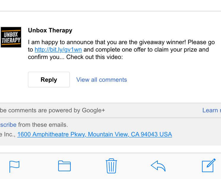 UnboxTherapy I Think Someone Trying A Scheme You Didnt Send This Rightpictwitter Va5hlXGhUn