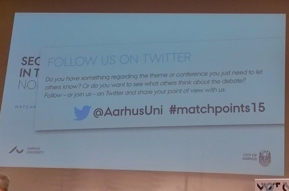 In #Aarhus, taking part to #matchpoints15 @AarhusUni, security and governance in Arctic https://t.co/iCVRxi1LWs