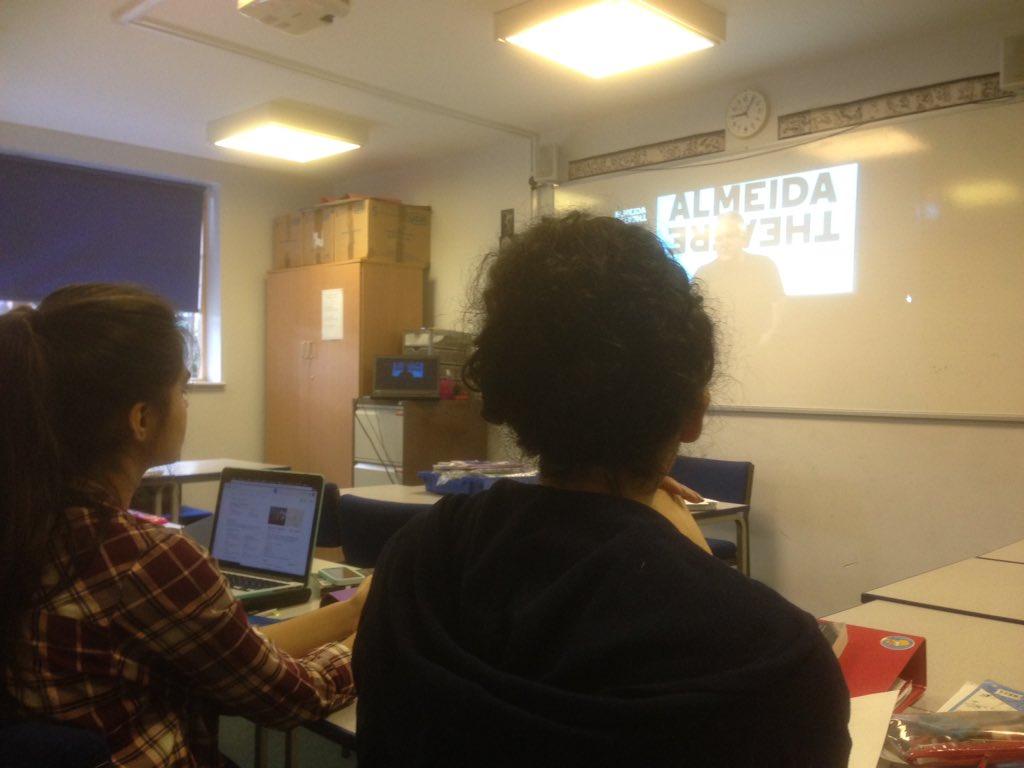 U6CC enjoying Simon Russell Beale reading Homer's #Odyssey live @AlmeidaTheatre https://t.co/KjY6oQkJQe