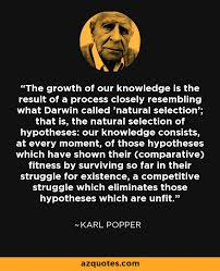 Karl Popper on the evolution of knowledge