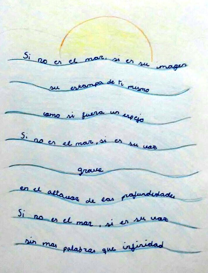 Patrociniosanjose No Twitter Caligrama Poema Frase O