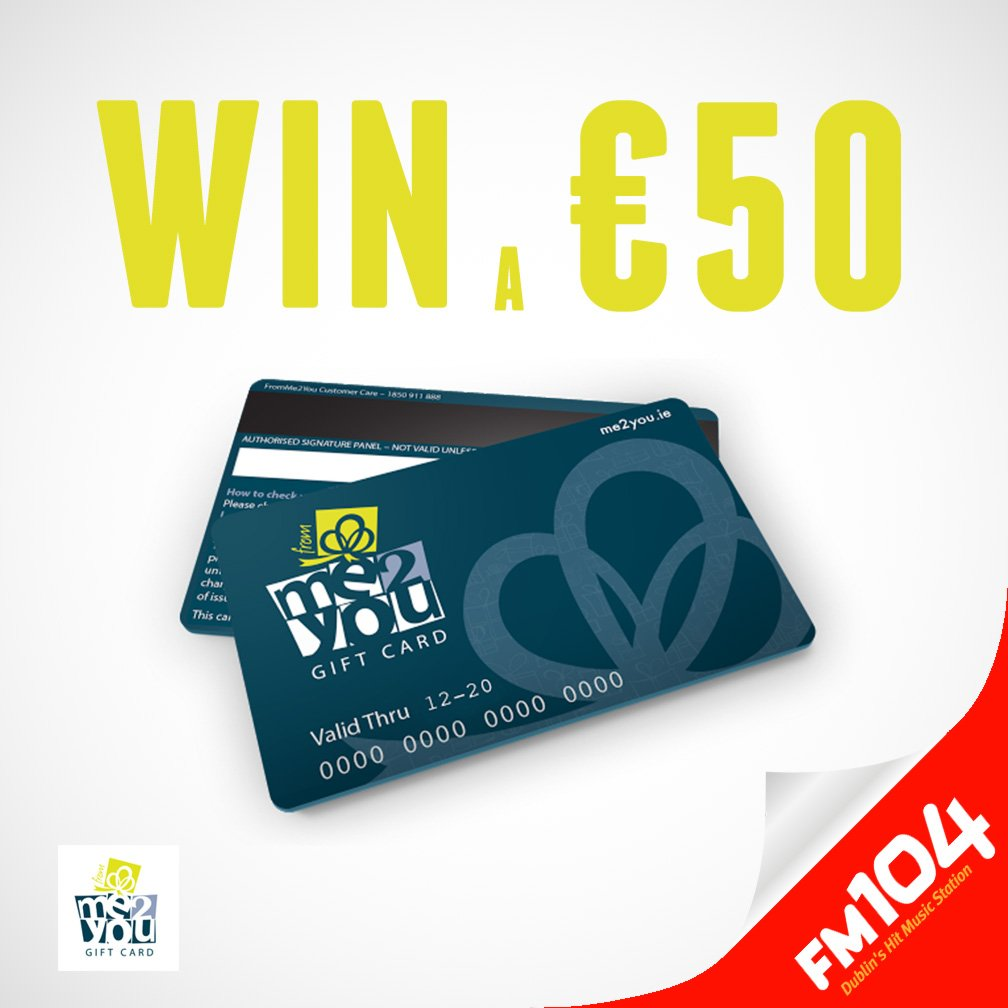 We're giving away a €50 #FromMe2You Gift Card. All you have to do is Follow & RT @FromMe2You_Gift to win! https://t.co/J6VfzLkOSC