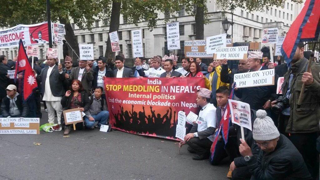 Modi - end shameful Blockade of #Nepal Now! #ModiNotWelcome #NepalBlockade #Nepal #NepalRedFlagsModi #ModiInUK https://t.co/gPSe5XktCl