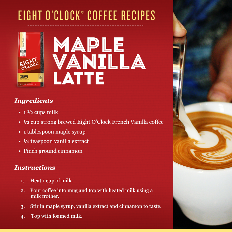Maple Vanilla Latte? Yes, please! 8 fans will win a milk frother, so RT for your chance to be one of 8 WINNERS! https://t.co/0Lv4IoveQf