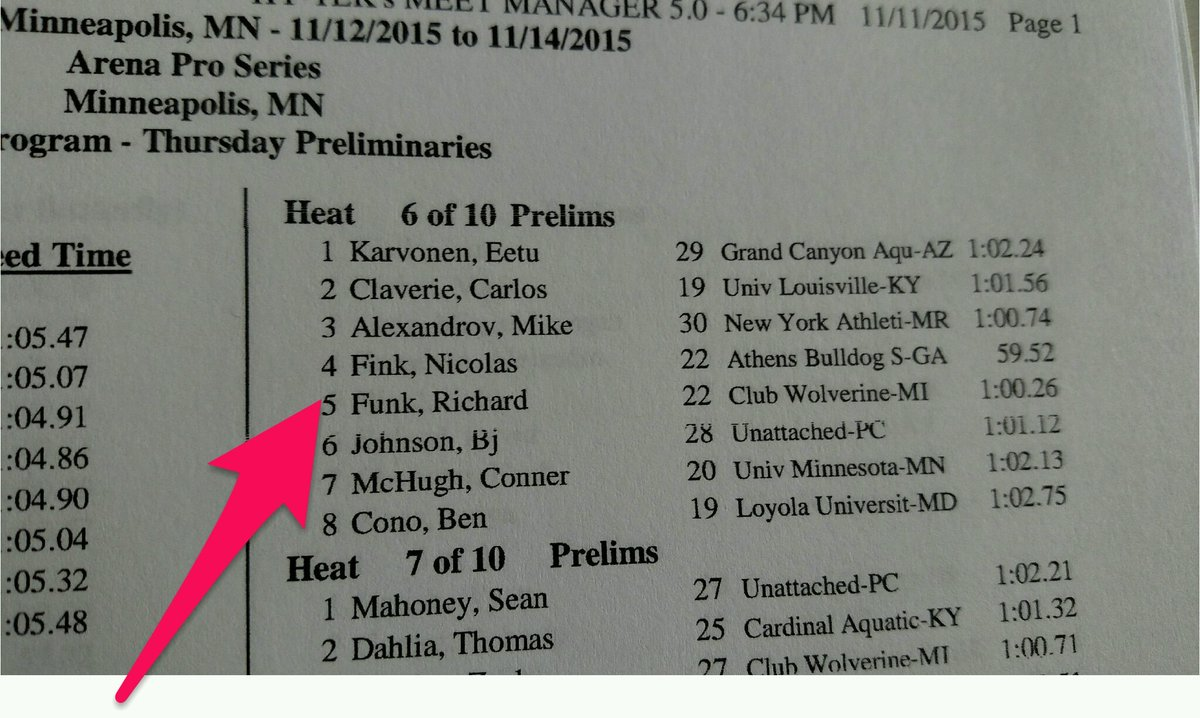 YES!!! Fink & Funk are side-by-side!! #PSSMinn #NeverForgetCANRichardFunk @swimswamnews https://t.co/TTxW5Jf46i