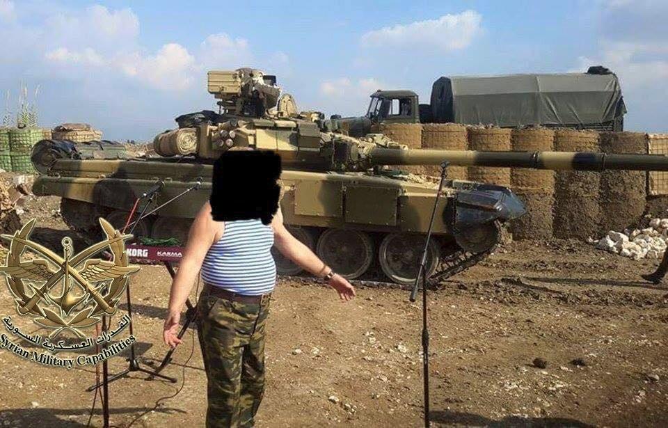 Lazkiye bölgesinde T-90.