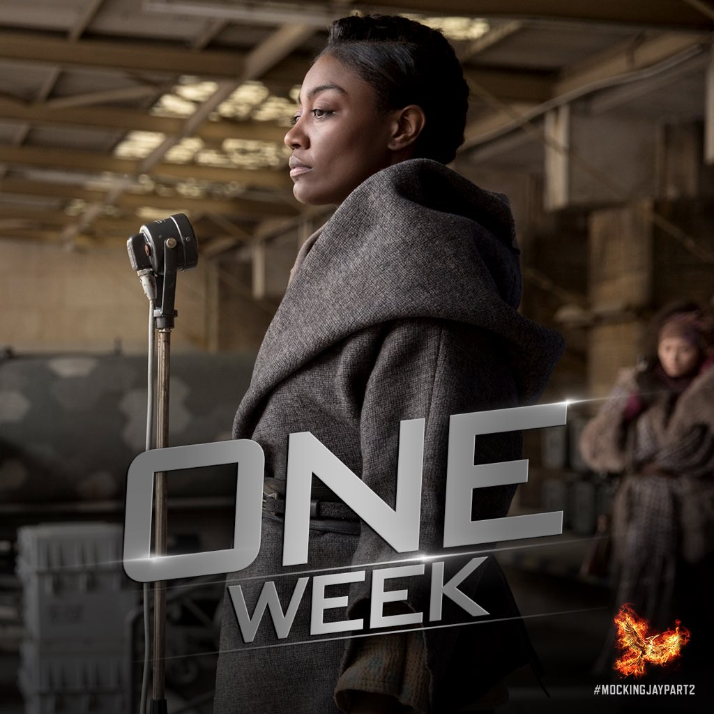 Just one week to @TheHungerGames' #MockingjayPart2 y'all