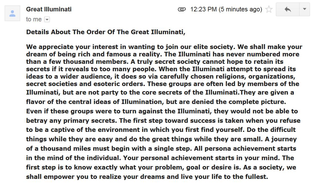 Illuminati dating app