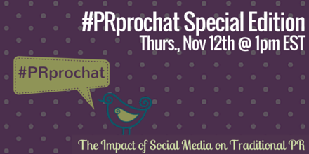 Our Special Student Edition of #PRprochat is in one hour! Can you join us? https://t.co/hqCN8hBsee
