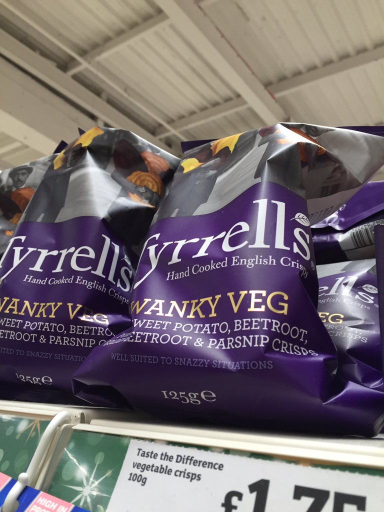 I like veg crisps a lot. But maybe not that much. #wanky https://t.co/eNnPy7LekI
