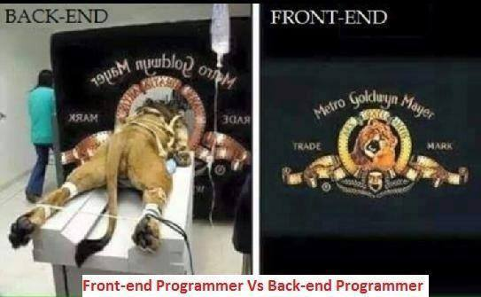 The difference between front-end and back-end https://t.co/u2JJiM2pYo