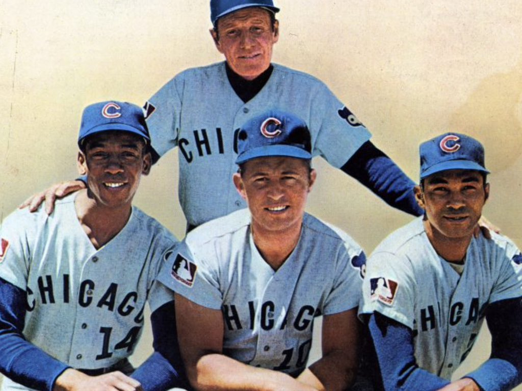 Cubs Manager Leo Durocher Ernie Banks Ron Santo Billy Williams ...