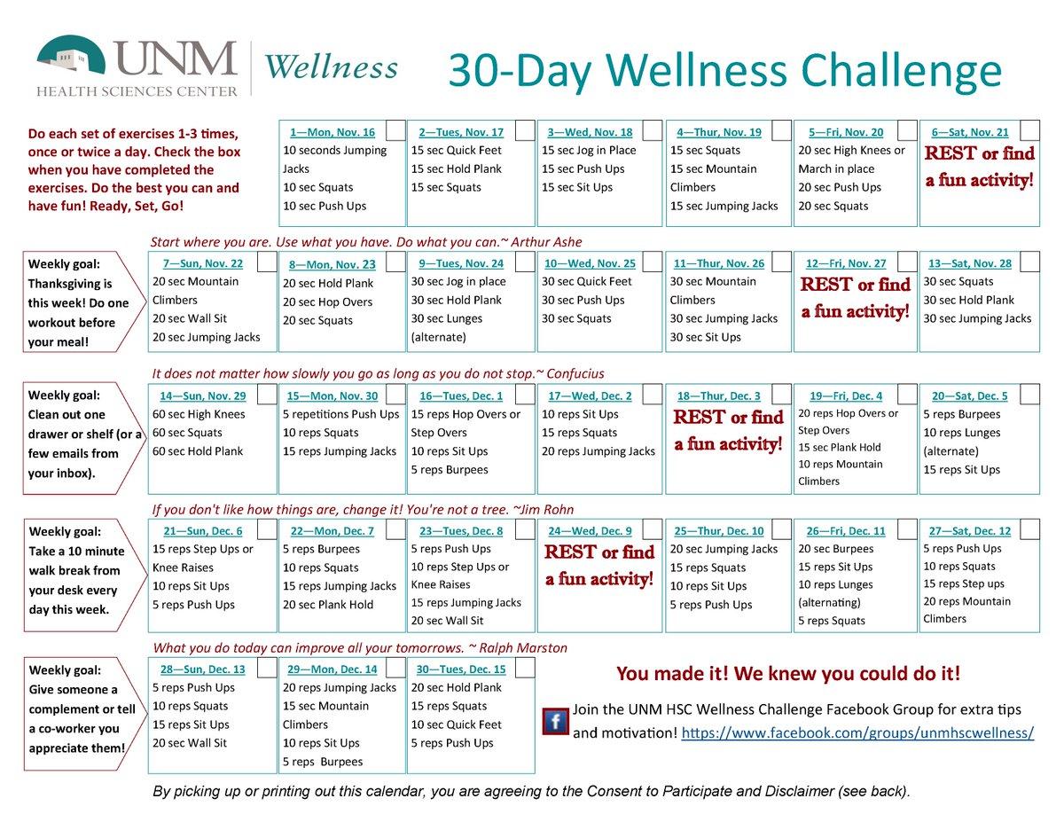 Wellness Calendar Ideas : Wellness challenges related keywords suggestions