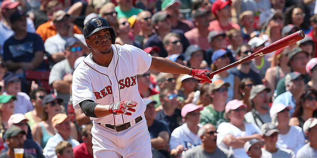 http://www.gettyimages.com/detail/news-photo/xander-bogaerts-of-the-boston-red-sox-watches-his-two-run-news-photo/482660814