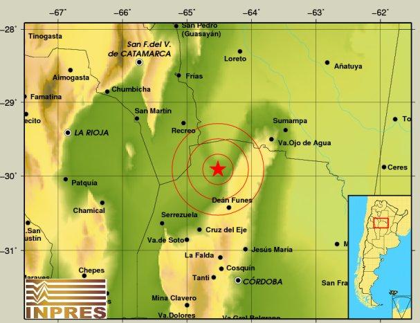 Terremoto Oggi Argentina: forte scossa a Cordoba, epicentro Lago Salinas