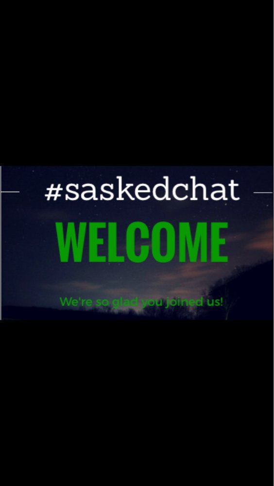 #saskedchat is on the air! Join us as we discussing From Competition to Collaboration. https://t.co/6OQ6BgMkN6