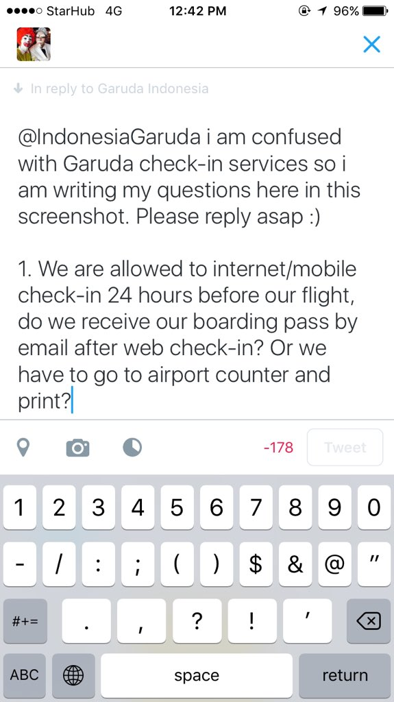 Garuda Indonesia On Twitter Bomdays If You Already Check In