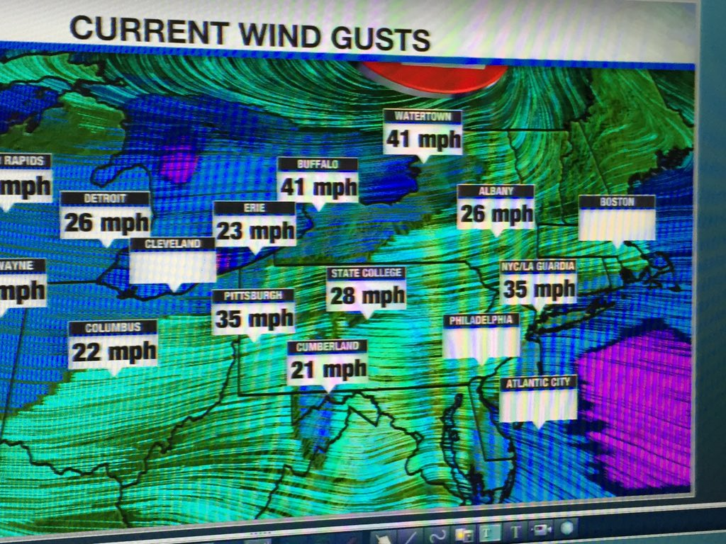 East Coast Braces for High Winds Sweeping in From Great Lakes
