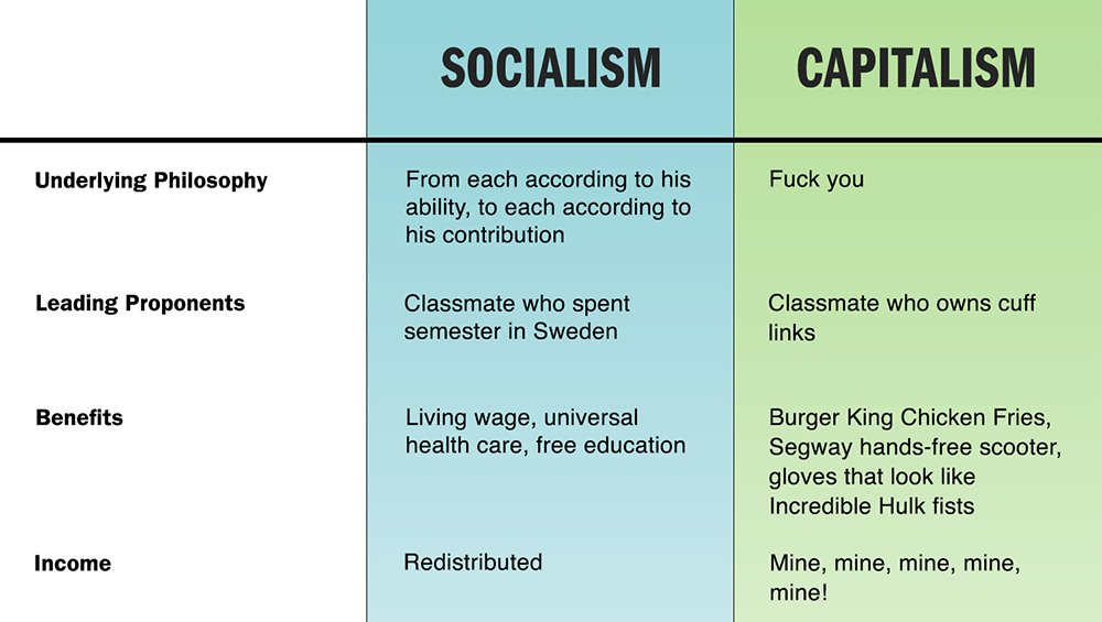 essay comparing capitalism and socialism