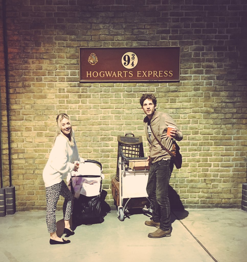 Max and I ❤️ Harry Potter World! Willow woke up for the Xmas tree at the end! 😜 @wbtourlondon #Hogwartsinthesnow https://t.co/xHDPzccrdj