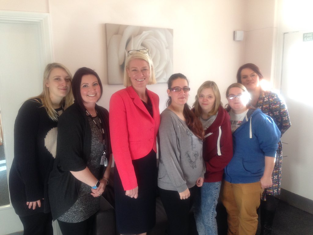 """YMCA Black Country on Twitter: """"Great to have @amandamilling visiting our YMCA project in Rugeley today. A big thanks from all staff and residents. ..."""