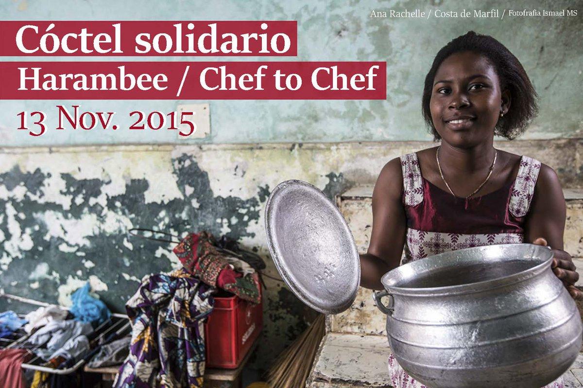 Llegó el día, cóctel solidario @Harambee_es #Cheftochef  hoy, a las 19,30h en @NHCollectionEB  #cocinasolidaria https://t.co/YSCK5OWqPN