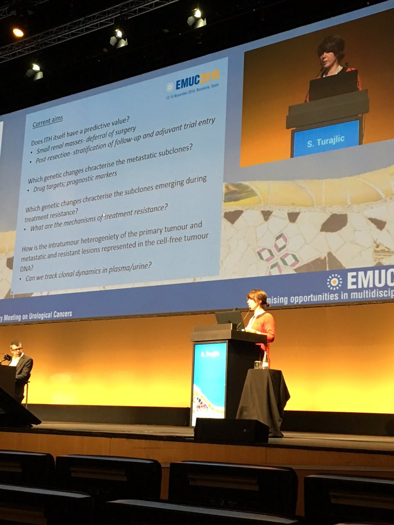 Heterogeneity in kidney cancer: can we explain a treatment resistance?-S Turajilic #EMUC15 https://t.co/pu7URVzyDF