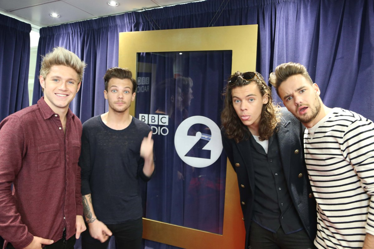Yes - that's right - @onedirection - on with Steve Wright - this afternoon!