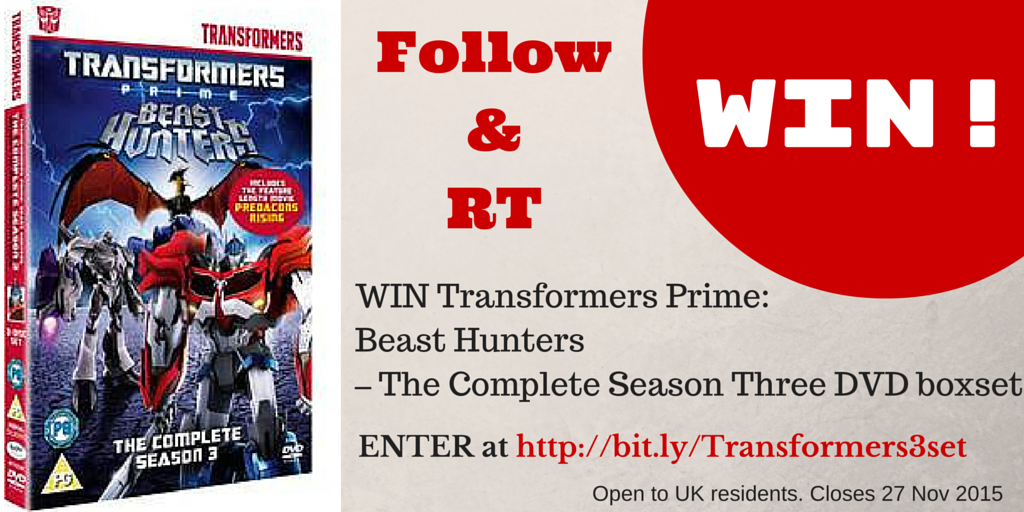 #WIN Transformers Prime: Beast Hunters – Complete Season Three DVD boxset Follow> RT> Enter: https://t.co/rcSgvCsxMz https://t.co/VCImpaiaNT