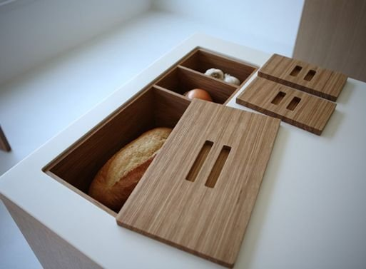 Install in-counter storage for your fruits, bread and vegetables. #DIY #homeimprovement [img] https://t.co/xb5a9n3gkW