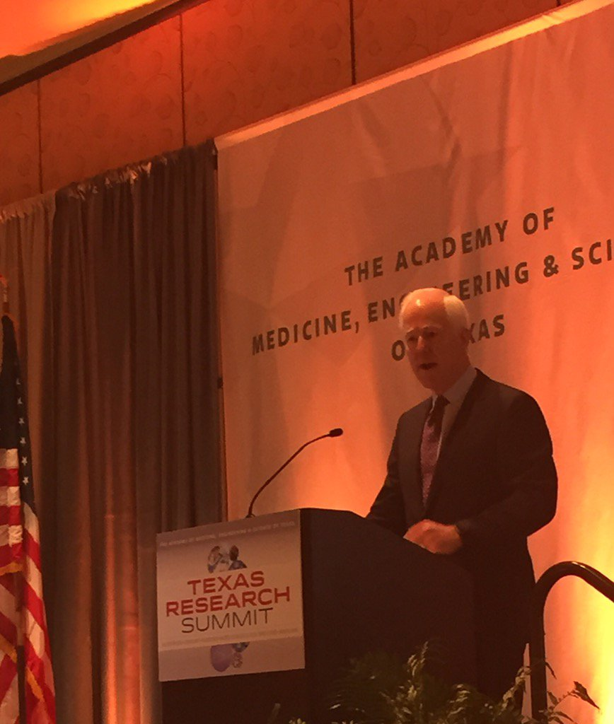 Sen Cornyn touts TX research and innovation at TAMEST Texas Research Summit. #TAMEST https://t.co/gJCDv5ndRD