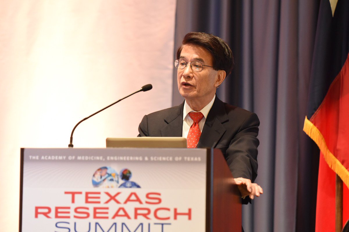Dr. Chu of @UHouston speaking at  #TAMEST Texas Research Summit on energy storage research. @UH_Research https://t.co/jDxO7Yi3PE