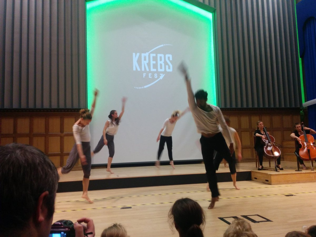 Learning about biology through the medium of dance at #KrebsFest https://t.co/f5SRp6csGZ